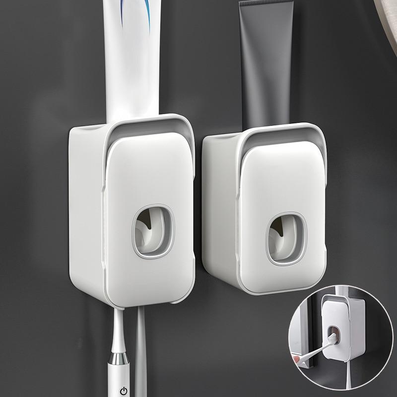 Dispensador automático de pasta de dientes 2 en 1, soporte para cepillo de dientes con ventosa, manos libres, exprimidor de pasta de dientes J99Store Soporte de linterna para casco táctico, Stents de linterna negra para escalada al aire libre, F2, accesorios para casco, soporte para linterna