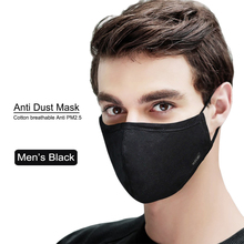 korean Cotton Anti Dust Mouth Face Mask Kpop Unisex mask with 2pcs Carbon Filter KN95 Antivirus PM2.5 Black Mouth-muffle Mask