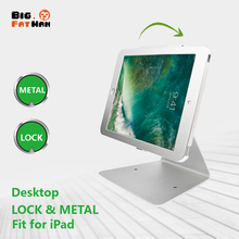 Desktop Holder For iPad 9.7 air Pro10.5&10.2 Anti theft Stand Enclosure Security with key tablet holder Flip Multi angle box