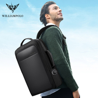 WILLIAMPOLO Laptop Backpack Mens USB Charging Bags Travel Bagpack Fit 15 17 inch Laptop Male Bag Anti thief 2020 new design