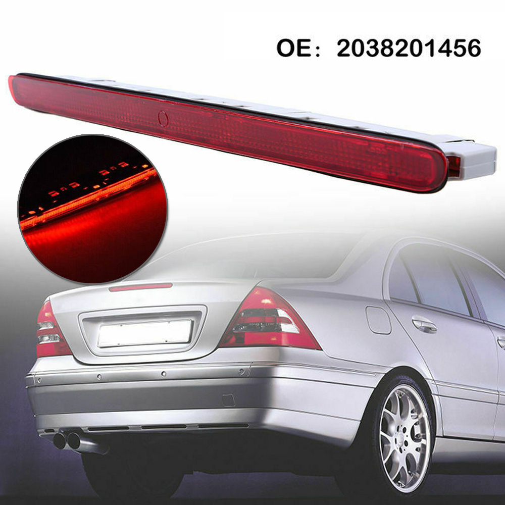 Third Stop Brake Light Clear For <font><b>Mercedes</b></font> <font><b>Benz</b></font> 2001-07 W203 <font><b>C230</b></font> C240 C280 C320 With LED Third Brake Light image