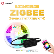 GLEDOPTO ZigBee LED 5V RGB+CCT TV Computer LED strip Light Kit 2M Work With Zigbee Hub Echo