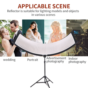 Image 3 - Gskaiwen u字型 4In1 ンスリフレクターディフューザースタジオカメラビデオ写真三脚とポータブルバッグ (シルバー/黒/wh/gd)