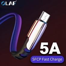 מיקרו USB כבל 5A מהיר טעינת USB סנכרון נתונים טלפון נייד מתאם מטען כבל עבור סמסונג Xiaomi Sony HTC LG אנדרואיד כבלים