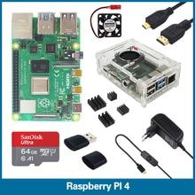 S ROBOTER Raspberry Pi 4 Modell B 1/2/4GB RAM Kit | Box & Fall | fan | Kühlkörper | Power Adapter | 32 64 GB SD Karte | RPI2