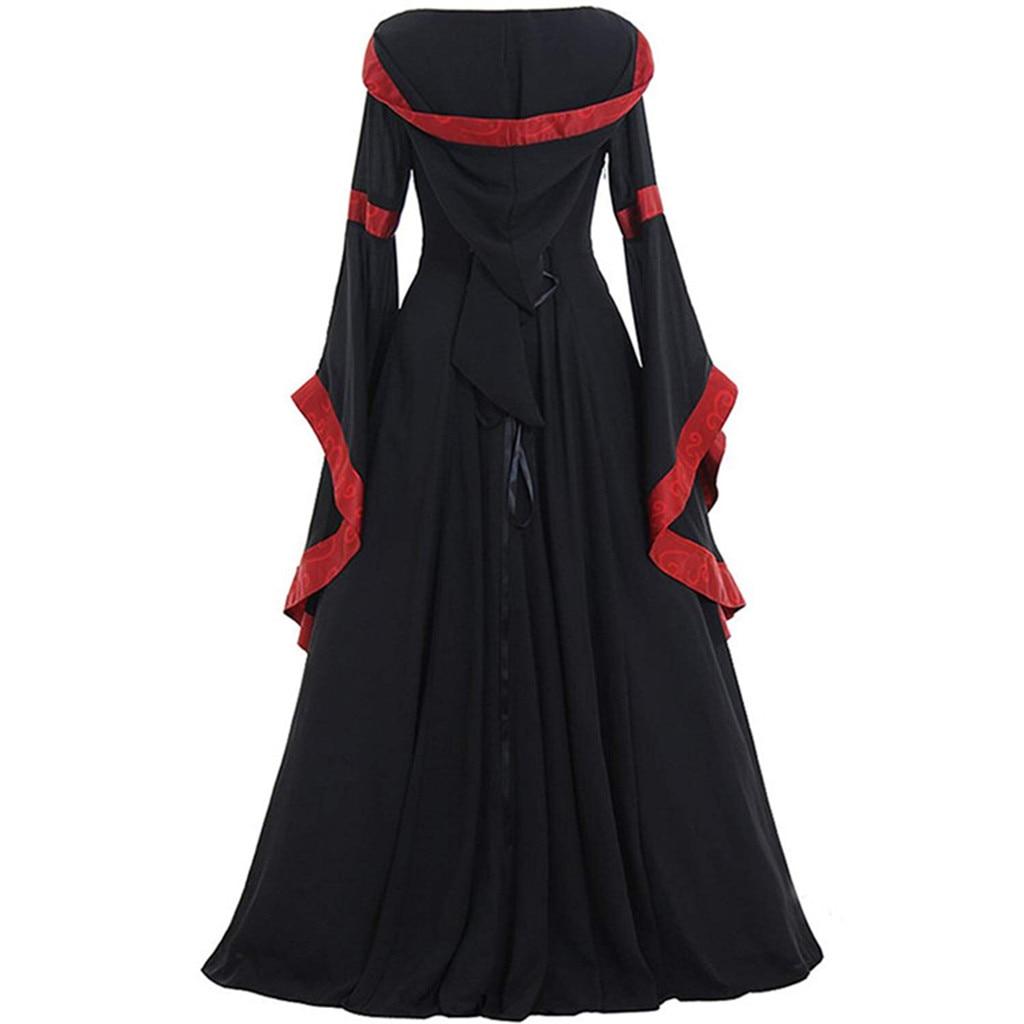 Women s Vintage Medieval Floor Length Renaissance Gothic Cosplay Dress Vestidos De Fiesta Dresses For Women