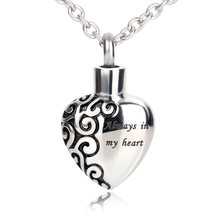 BOFEE Urn Ashes Necklaces Pendants Screw Heart Cremation Memorial Locket 361L Stainless Steel Fashion Jewelry Gift For Women Men(China)