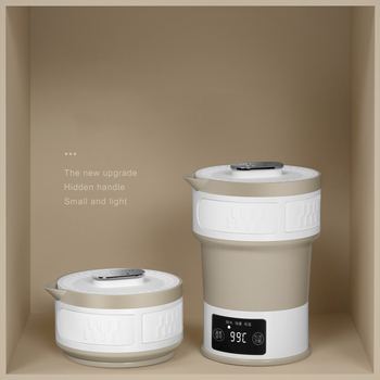 Hervidor de agua plegable de 110 V-240 V, hervidor de agua eléctrico comprimido, hervidor de agua de calidad alimentaria de silicona, Mini hervidor de aislamiento portátil