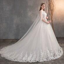 2021 vestido de casamento chinês com tampão longo laço vestido de casamento com trem longo bordado princesa mais szie vestido de noiva