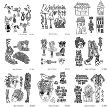 AZSG Beautiful Speckle Sattern Cat And Bird Clear Stamps For DIY Scrapbooking/Card Making/Album Decorative Silicon Stamp Crafts