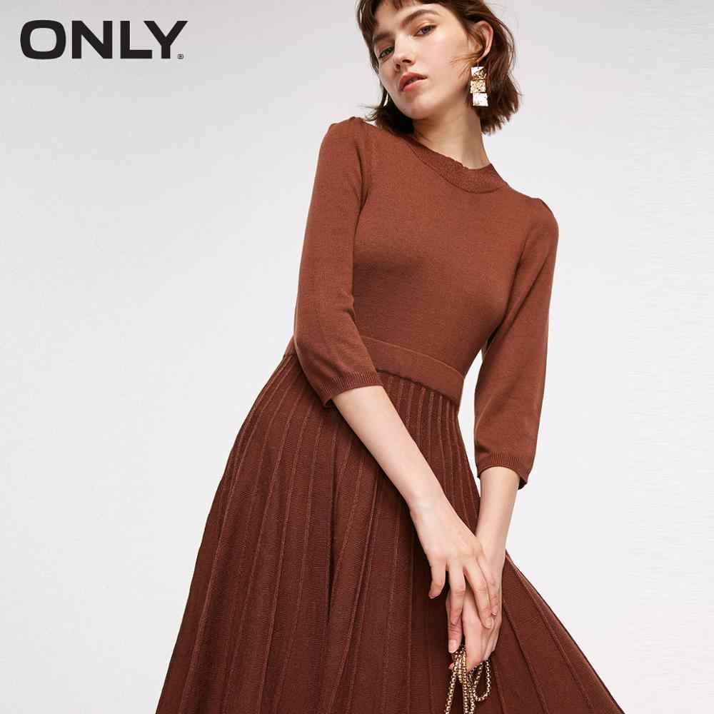 ONLY Autumn Slim Fit Metal Wire Knitted Dress  | 118346510