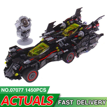 07077 Batman Movie Series Compatible with Legoed 70917 Ultimate Batmobile Model Building Block Bricks Educational Kids TOYS Gift 303 1486pcs technical series the ultimate sliver champion f1 racing set compatible with 8458 21001 05033 building block car toys