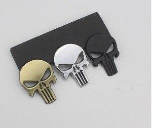 Image 2 - 3D 금속 Punisher 자동차 스티커 해골 오토바이 바디 데칼 트럭 엠블럼 배지 방수 자동차 액세서리