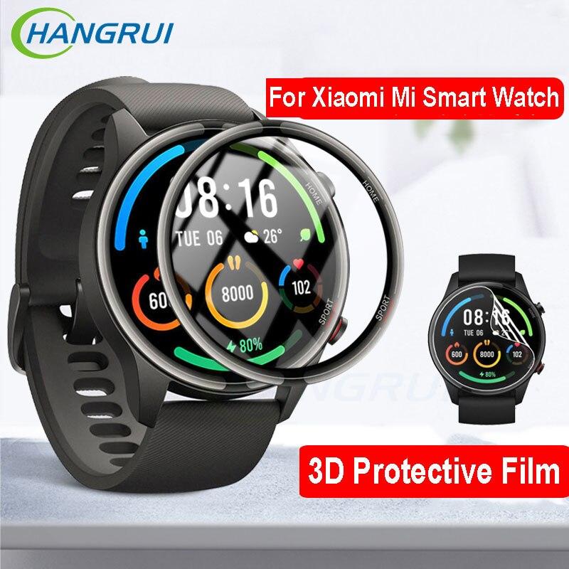 Защитная 3d пленка для смарт часов Xiaomi Mi, цветная спортивная версия, защита экрана HD, Гидрогелевая пленка для смарт часов Mi Watch Смарт-аксессуары      АлиЭкспресс