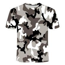 Boys and girls 3D camouflage printed T-shirt, custom cartoon leisure T-shirt, leisure sports T-shirt