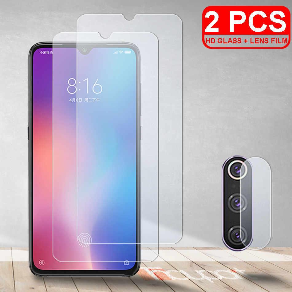 2Pcs HD กระจกนิรภัยสำหรับ Xiaomi Mi 9 Lite 9 SE 9T Mi CC9 หน้าจอป้องกันกล้องฟิล์มแก้วสำหรับ Xiaomi Mi 9T Pro CC9E Mi9 Lite