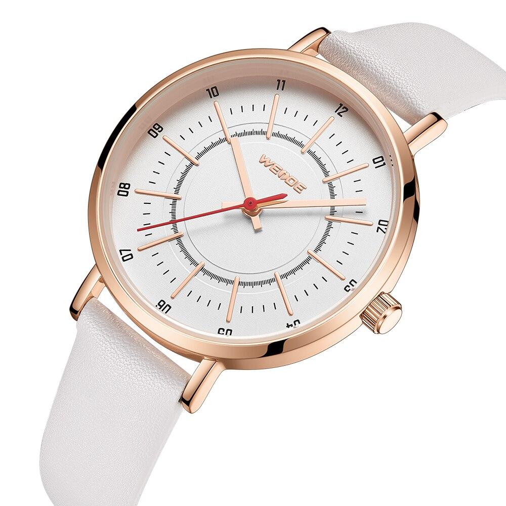 WEIDE Women Men Watches Top Brand Luxury Quartz Watch Minimalism Gifts Leather Strap Relojes Para Pareja Couples Clock WD026