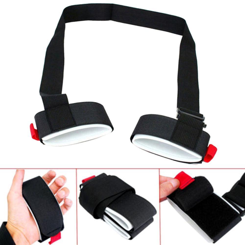 Skiing Pole Shoulder Hand Adjustable Hook Loop Nylon Hand Carrier Lash Handle Strap Hook Loop Protecting Ski Handle Strap Bags