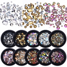 Get more info on the 1 Box Mixed 3D Rhinestones Nail Art Decorations Crystal Gems Jewelry Gold Shiny Leopard Stones Charm Nailart Accessories