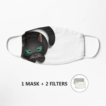 Cat Me Blick Mask Cartoon Print Face Mask Reusable Children Mask Fabric Dust Mask Mascarilla image