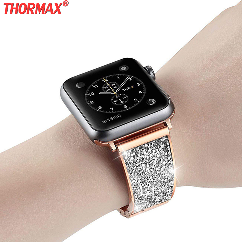 Watch, Band, Diamond, Women, Apple, Czech