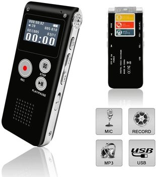 Voice Recorder, Digital Voice Recorder Voice Activated Recorder with Playback Rechargeable Tape Dictaphone Recorder for Lectures фото