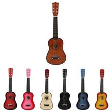 Деревянная акустическая гитара, 21 дюйм, Классическая гитара, музыкальный инструментальный стартер, для начинающих, для любителей музыки, по...