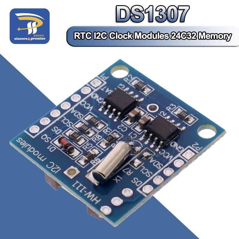 1 шт. крошечные модули RTC I2C 24C32, память DS1307, модуль RTC с часами без аккумулятора