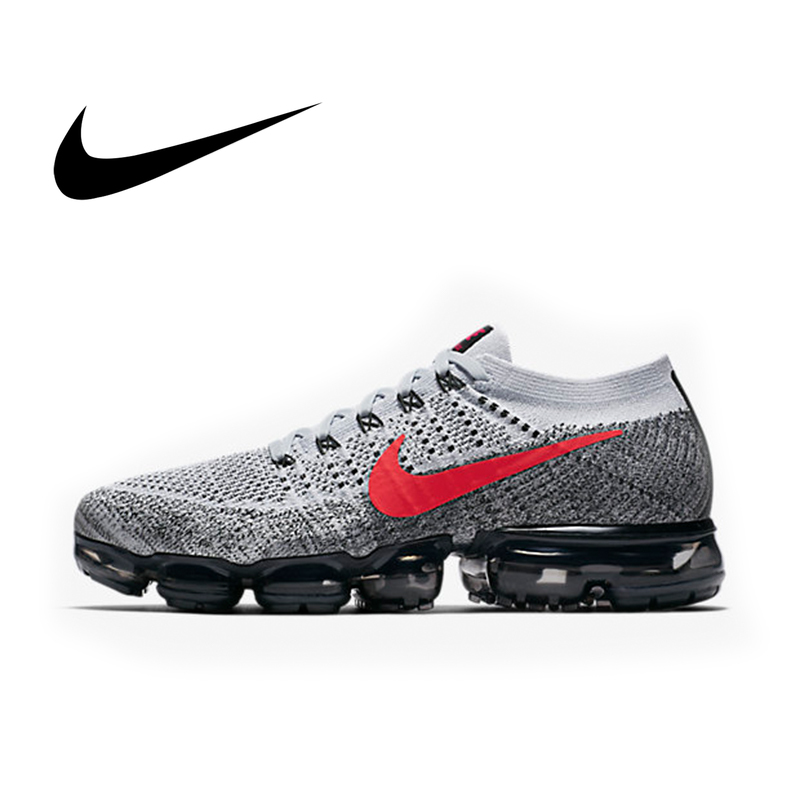 Original Nike Air VaporMax Flyknit Breathable Men's Running Shoes Lace-up Durable Non-slip Fashion Comfortable Sneakers 849558