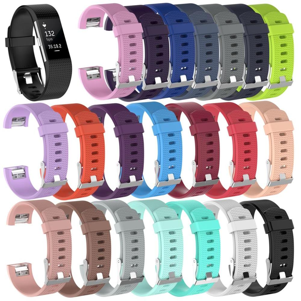 New 21 Colors Tpu Starp For Fitbit Charge 2 Band Smartwatch Accessories For Fitbit Charge 2 Wristband For Fitbit Charge 2 Sport