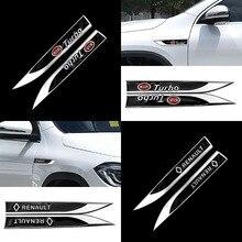 1 par cromado emblema decalque adesivo logotipo pára-choques lado metal para mercedes benz cla cls gla glk glc w204 w205 w203 w213 amg