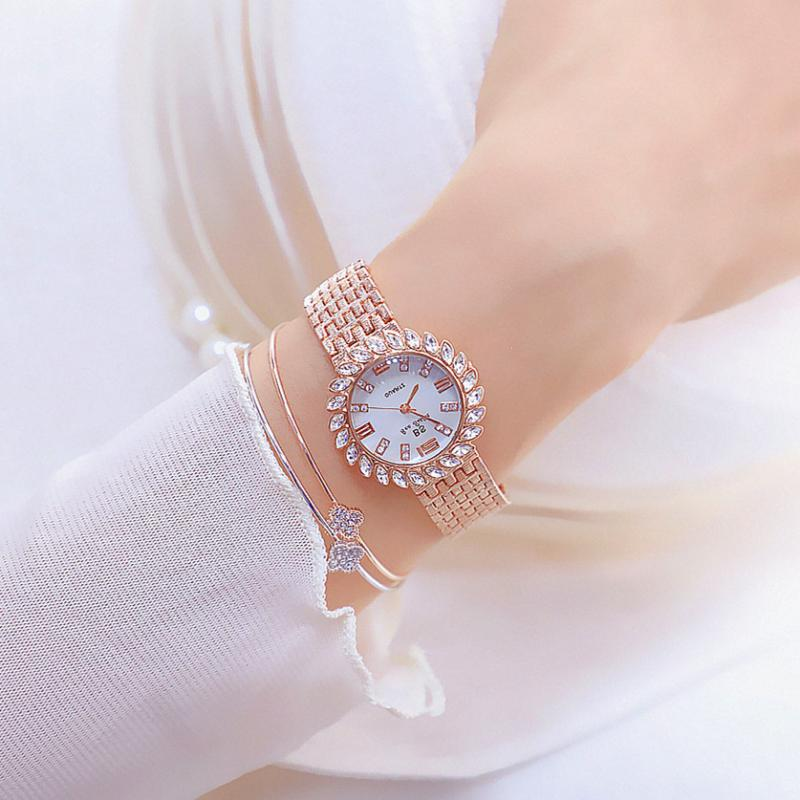 Luxury <font><b>BS</b></font> Top Brand 2019 Fashion <font><b>Watches</b></font> Women Stainless Steel Bracelet Analog Wristwatch Relogio Feminino Montre Relogio Clock image
