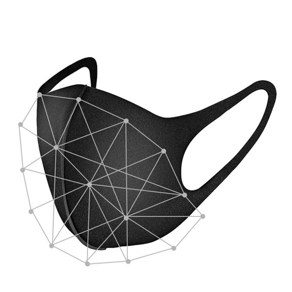 200pcs/lot Black Mouth Mask Anti Haze Dust Washable Reusable Dustproof Mouth Face Mask Breathable Comfortable Mask For Women Men