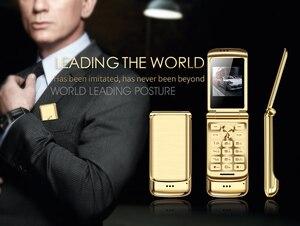 "Image 3 - Original Ulcool V9 Luxury Flip Phone 1.54"" Dual Sim Camera MP3 Bluetooth FM Dialer Anti lost Metal Body Mini Mobile Phone"