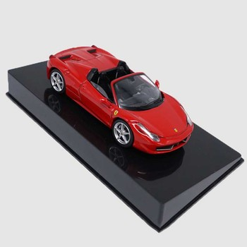 1:43 refined metal alloy version of the classic 458 convertible Ferrar static simulation SPIDER car model toy gift collection image