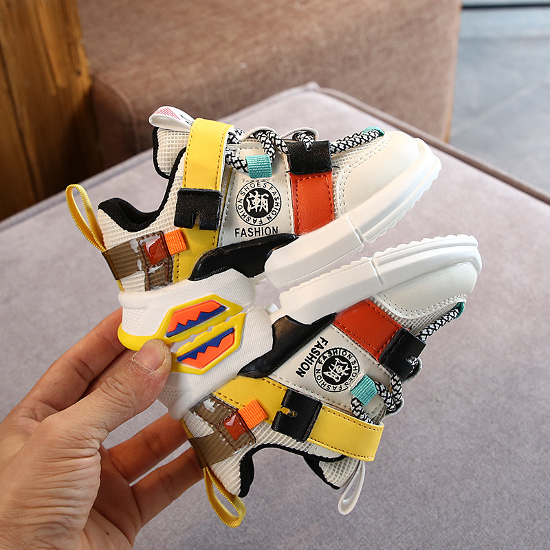 2020 New Kids Sports Shoes Children Casual Boys Patchwork Sneaker Anti-Slippery Sneakers for A Boy Chaussures Enfant Garcon 5