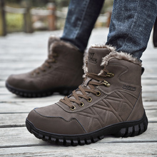 Fashion Men Winter Snow Boots Men Cotton High Top Sneakers Bota Coturnos Masculino Male Warm Waterproof Boots Men Martin Boots