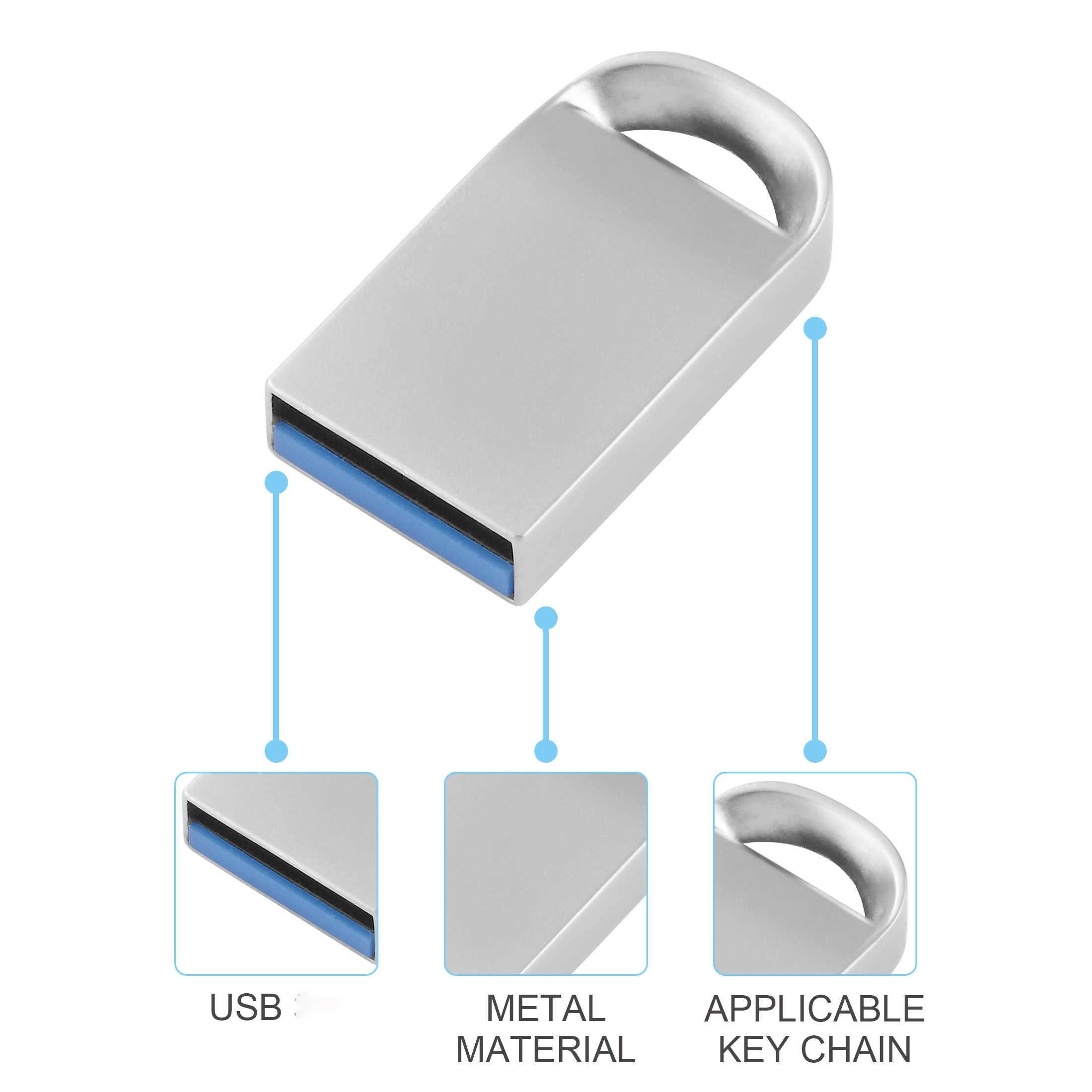 Hoge Snelheid Pen Drive 64Gb Pendrive 128Gb Usb Flash Drive 32Gb Cle Usb Memory 16Gb Flash usb Stick En Gratis Micro Type-C Adapter