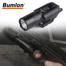 Tactical Flashlight 500 Lumens Hunting Lantern X300 Ultra Pistol Gun Light X300U Weapon Light Flashlight Glock 19 Pistol Light все цены