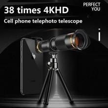 38X Telescoop Zoom Lens Monoculaire Mobiele Telefoon Camera Lens voor iPhone Samsung Android Smartphones