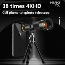 38X Telescope Zoom Lens Monocular Mobile Phone Camera Lens for iPhone Samsung Android Smartphones