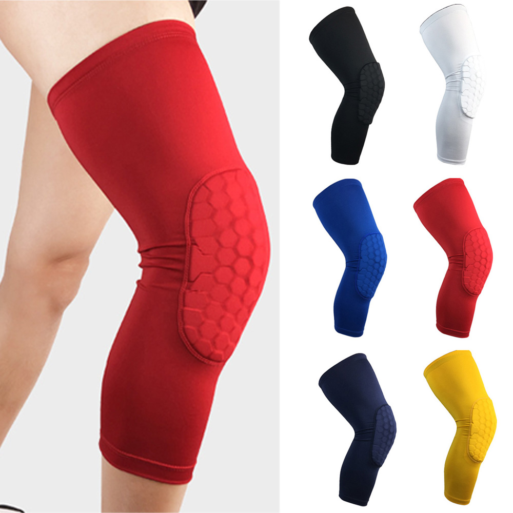 Sports Knee Protectors Elastic Anti-collision Athletics Basketball Leg Guards