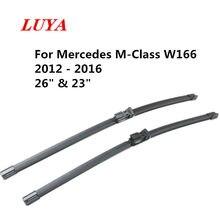 LUYA silecek lastiği araba ön cam sileceği Mercedes Benz M sınıfı için W166 (2012-2016) boyutu: 26
