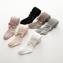 2 Pcs/Lot 0-10 Yrs Children Spring Autumn Tights Cotton Baby Winter Bowknot Girls Pantyhose Kids Infant Knitted Collant Tights