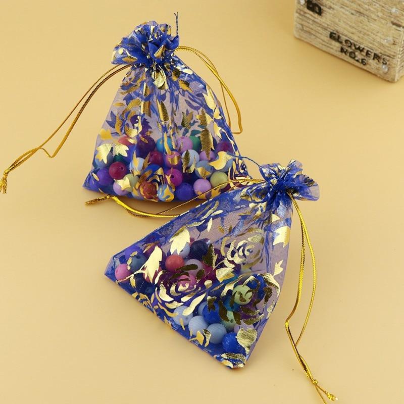 100pcs/lots  13*18cm/20*30cm/15*20cm Organza Bags Drawstring Gift Bags Mesh Gift Bag Jewelry Bags Packing Drawable Gift Bag