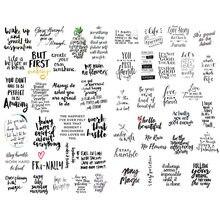 1 PCS Schwarz Chat Worte Kleine Sprechen Segnen Sagen Ästhetischen DIY Buch Journal Aufkleber Scrapbooking Schreibwaren Schule Kunst Liefert