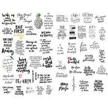 1 Uds texto negro bendiga cercanas estética pegatinas de viñetas para diario Scrapbooking papelería pequeña pegatina arte de la escuela suministros