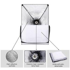 Image 4 - Photo studio kit de iluminação 2x3m sistema de suporte de fundo com 4pcs pano de fundo fotografia led luz softbox guarda chuva tripé suporte