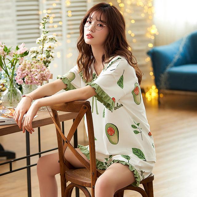 Avocado Pattern Women's Pajama