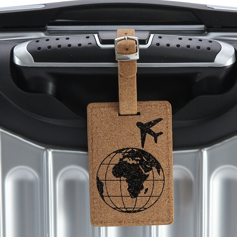 Fashion Wood Grain Leather Travel Luggage Tag Baggage Label Name ID Address Holder Travel Accessories Boarding Pass Luggage Tags